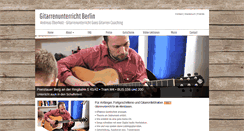 Preview of gitarrenunterrichtberlin.de